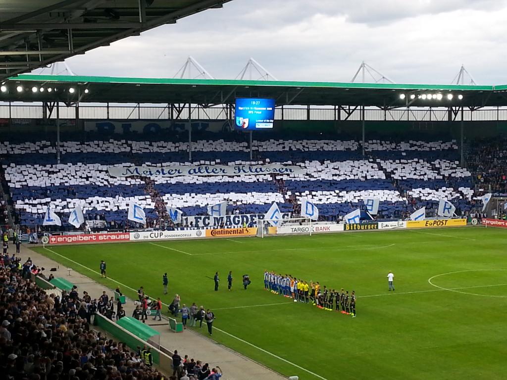 Choreo zum Spiel gegen Augsburg. Mit bestem Dank an Thorsten Kessler für das Bild!