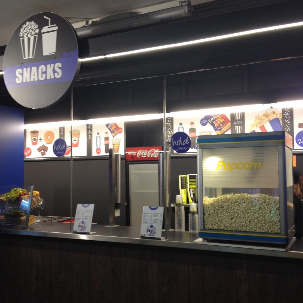 Popcorn im Camp Nou