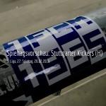 die Stuttgarter Kickers im Heinz-Krügel-Stadion