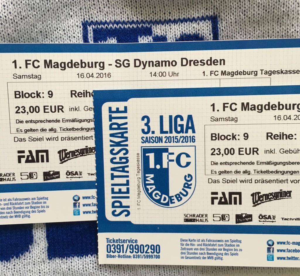 Tickets für die Begegnung gegen Dresden