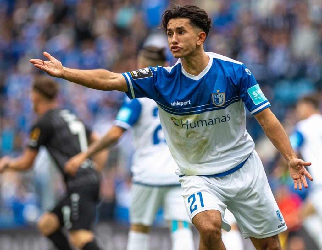 Jason Ceka gegen die Würzburger Kickers
